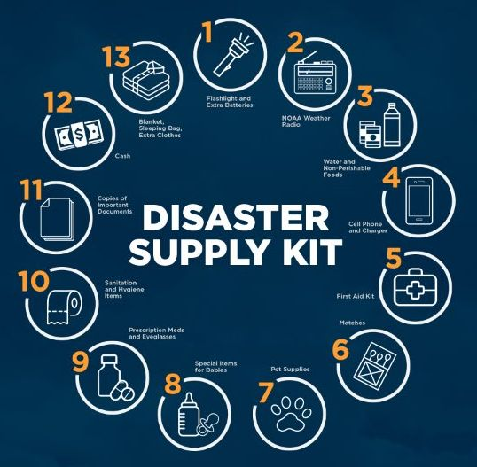 Mycoop disaster supply kit
