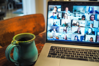 Online focus group meeting on video call