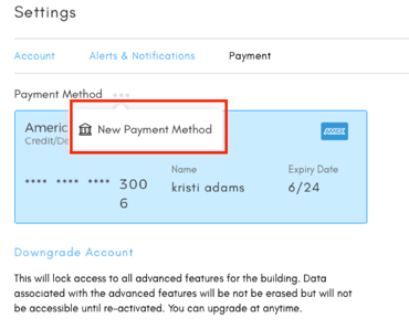 change payment feature