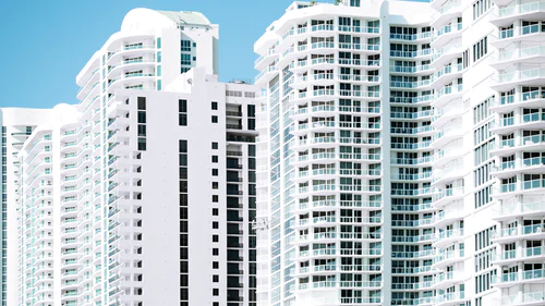 Residential apartment buildings in Miami